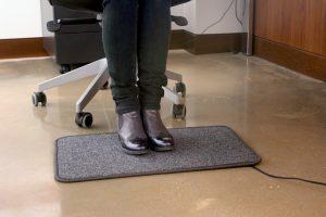 alfombra electrica calefactora en el trabajo